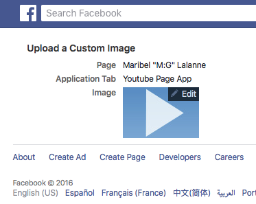 Facebook - Upload Custom App Image