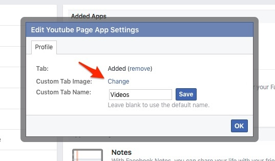 Facebook - Edit Page App Settings